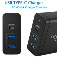 USB C Charger Power Delivery QC 3 0 Type C PD 3 Port Fast Charger For