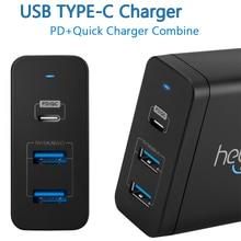 USB-C Chargeur Puissance Livraison QC Type-C PD 3 Port Rapide chargeur pour NOUVEAU Macbook pro 12 13.3 pouce samsung portable 9