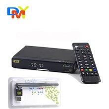 V8 de Oro TV Recevier 1080 P Full HD DVB S2/T2/Cable + 1 UNID V8 USB WIFI Apoyo Biss Clave Mapa Google Yahoo Noticias IPTV YouTobe