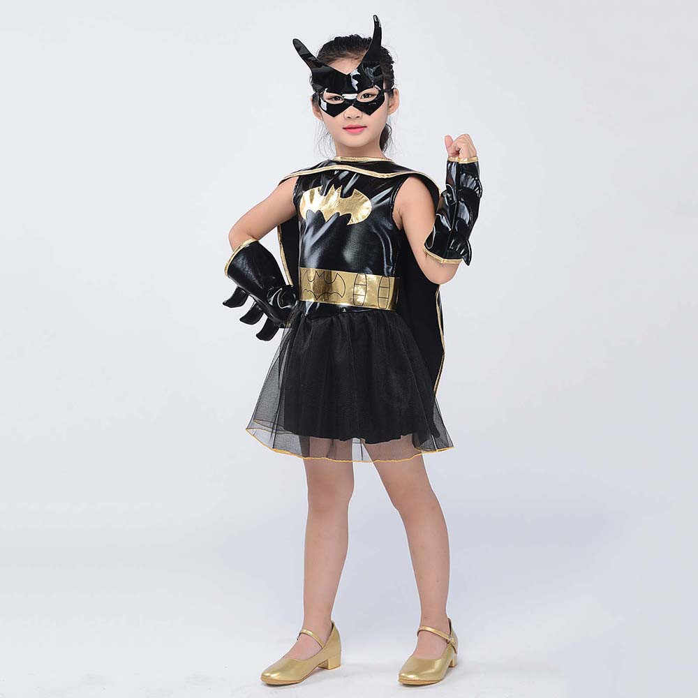 Kids Batgirl Tutu Costume Little Girls Batman Superhero Fancy Dress Dc Comics Halloween Costumes For Children Toddlers