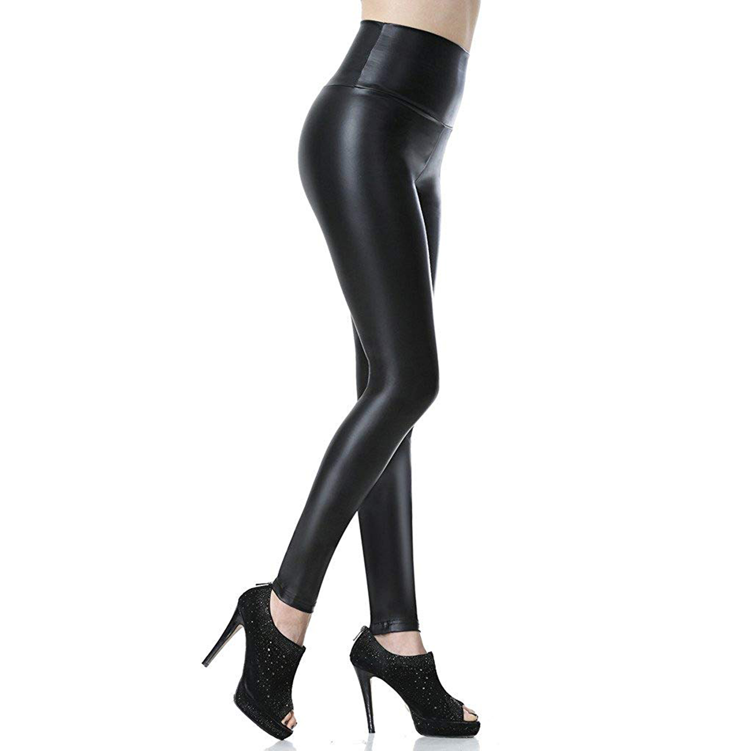High Quality Winter Leather Pants Women Plus Size Winter Leather Pants High Waist Pu Trousers Women Thick Stretch Pantalon Femme