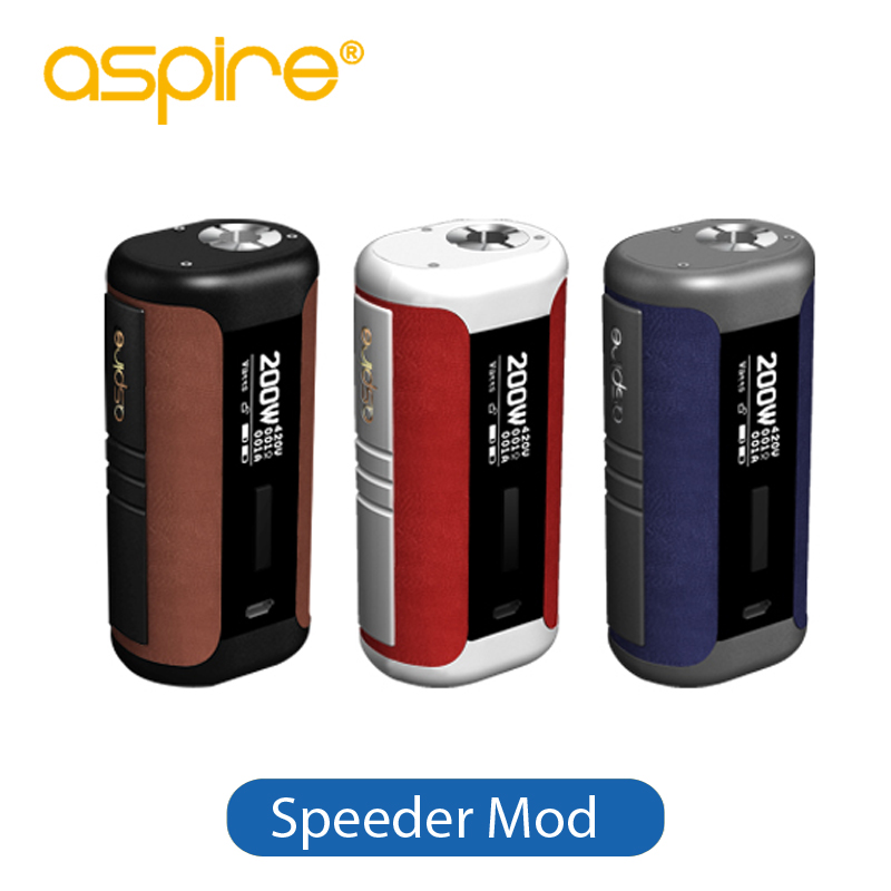 Original Aspire Speeder Mod 200W Vape Electronic Cigarette Box Mod Fits Revvo Tank Powered by Dual 18650 Battery