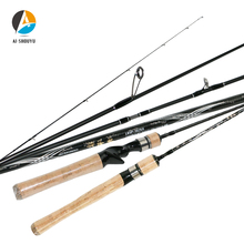 2019 High Quality Spinning Rods for Fishing Solid Tip Fast Action UL Carbon Rod SuperLight Rod Carbon Lake Casting Lure Rod fish king 2 top tip 0 5 6 2 8g carbon fishing rod spinning ultralight ul l power fast lure rod fuji guide fishing travel rods