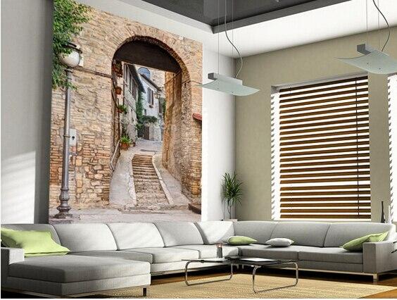 Kundenspezifische Moderne Tapete. Alte Alley In Bevagna, Italien, 3D  Landschaft Foto Für Wohnzimmer Schlafzimmer Restaurant Wand Pvc Tapete In  ...
