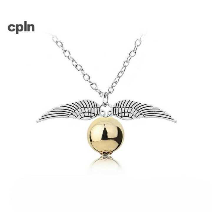 Harry Potter and the Deathly Hallows Golden Snitch Necklace in Pendant Necklaces from Jewelry Accessories