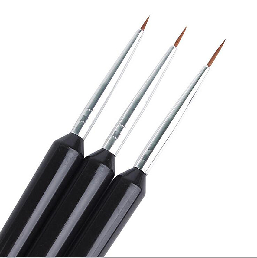 3Pcs/Set Fine Hand-painted Hook Line Pen Piano Paint Rod Drawing Pen Nail Painting Brushes Art Pen Paint Brush Art Supplies