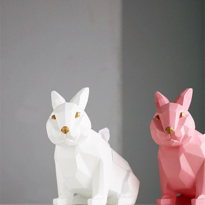 Творческий Геометрия Rabbbit Держатель салфеток кассета бумага держатель насосные лоток гостиная кофе украшение стола кролик Best подарок