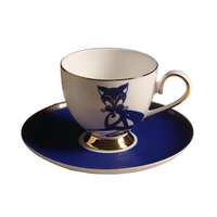 النبيلة الفاخرة العظام الصين القهوة والصحن ملعقة السيراميك الخزف كأس الشاي القدح 200 ملليلتر المتقدم علبة هدية مقهى الحزب