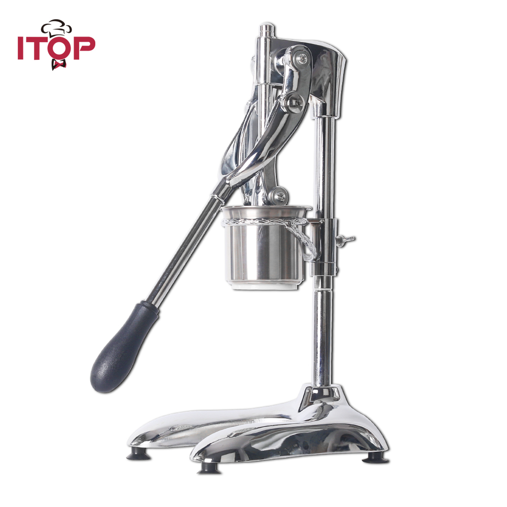 ITOP Aluminum Alloy Manual Potato Chip Squeezers Machine American 30CM Long Potato Chip Maker French Fries Cutter Slicers