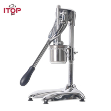 ITOP Aluminum Alloy Manual Potato Chip Squeezers Machine American 30CM Long Maker French Fries Cutter Slicers