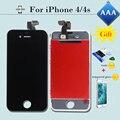Top qualidade tela sensível ao toque de substituição digitador assembléia para iphone 4 4s AAA 100% Sem Dead Pixel Display LCD com Gift1/2 em B/W