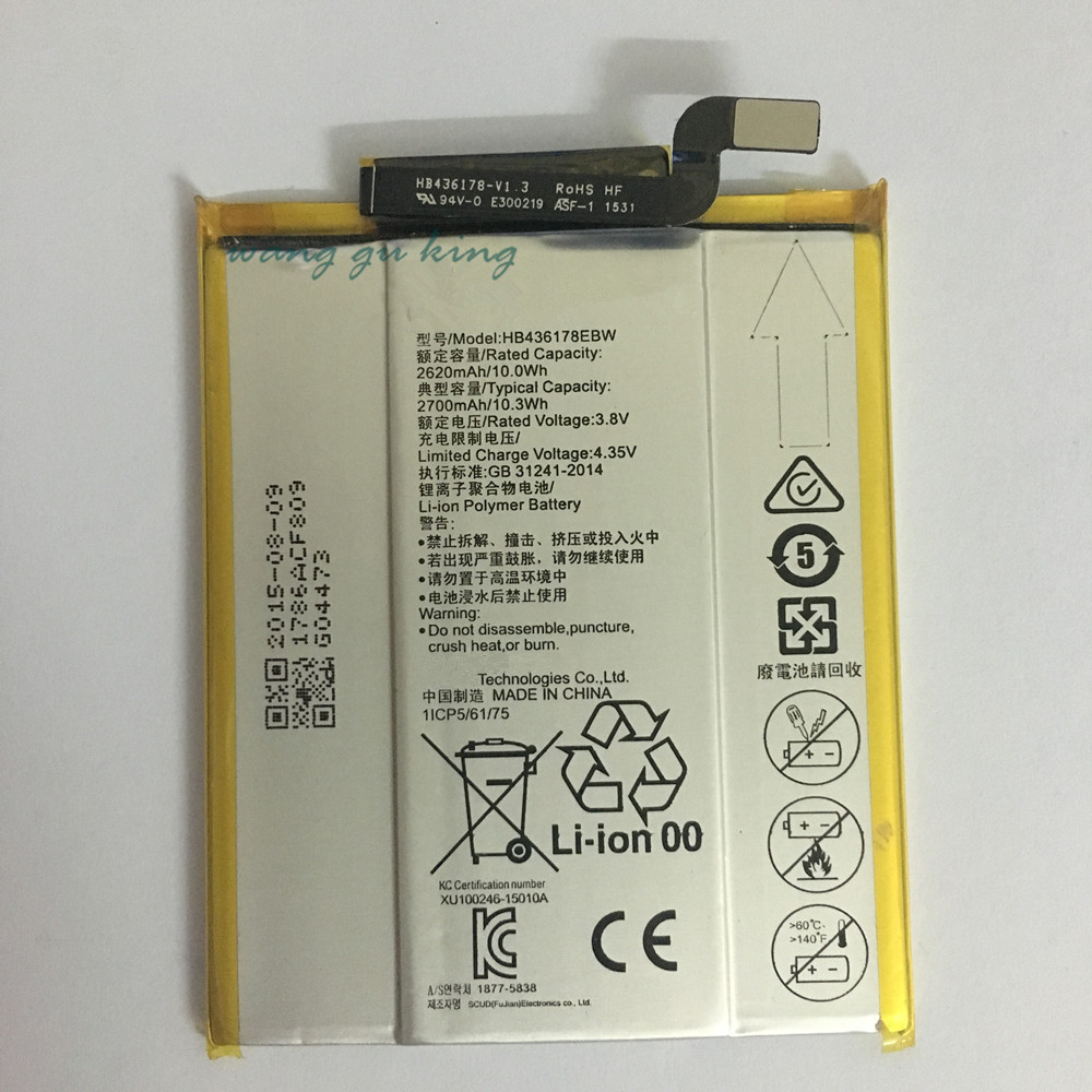 HB436178EBW Mobile Phone Replacement Li Polymer Battery Bateria 2700mAh For HUAWEI Mate S CRR CL00 CRR