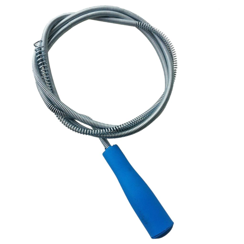 Boutique Amico blue Plastic Grip Snake Spring Pipe Rod Sink Drain ...