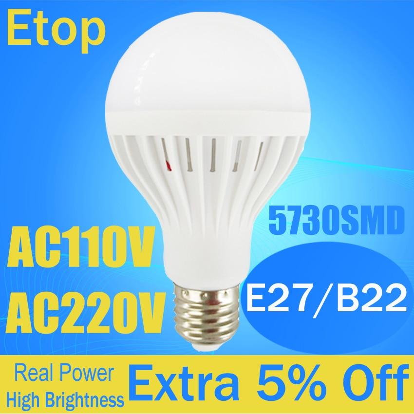 LED Bulb 220V lampada led e27 B22 110V 3W 5W 7W 9W 12W LED Lamp SMD5730 Super Bright Ampoule Spotlight Lampara Bombillas Light