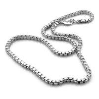Argent pendentif Classique vraiment solide 925 sterling argent boîte chaîne collier mode hommes 6mm66cm collier en argent. bijoux en argent