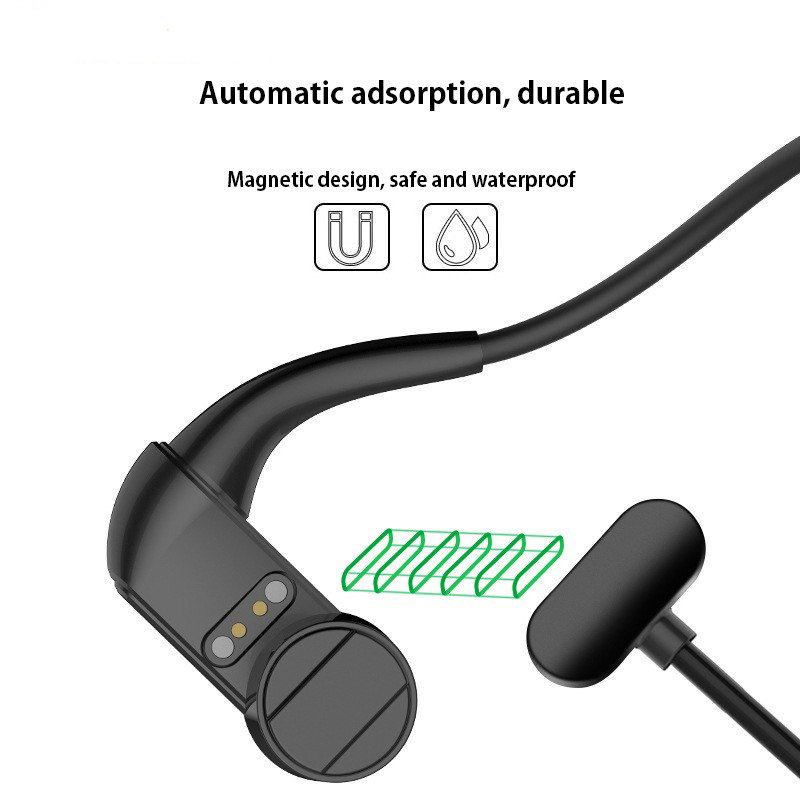 Original Bluetooth Edition Bone Conduction Headset Wireless earphones Run Sports bass Headphone With Mic For iPhone Xiaomi in Bluetooth Earphones Headphones from Consumer Electronics