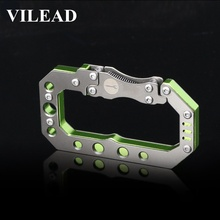 VILEAD Men Steampunk Metal Keychain Carabiner Cool Mechanical Style EDC Upscale Keyring Gift Fashion  Accessories Quickdraws