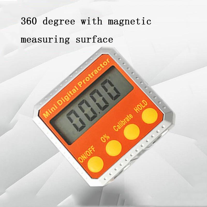 Digital Display Protractor Angle Gauge Inclinometer Protractor Angle Goniometer Bevel Box With Magnet Base Measuring Tool