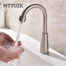MTTUZK 304 из нержавеющей стали одной холодной кран, умывальник, туалет, одно отверстие может быть повернут сенсорный выключатель кран бассейна кран