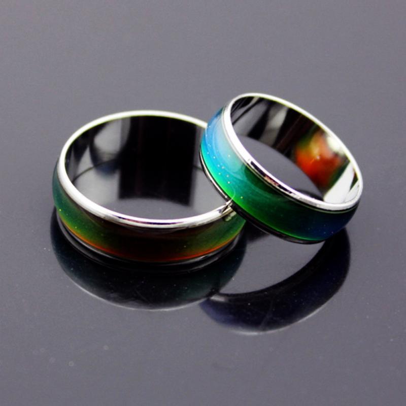 2018 anillos de Color plateado que cambian el humor temperatura sensación de  emoción anillos para mujeres hombres joyería fina en Anillos de Joyería y  ... 97fa0354d45