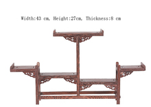 Exquisite Chinese Decoratable Classical Handmade Wenge Wooden Display Stand Shelf No.1