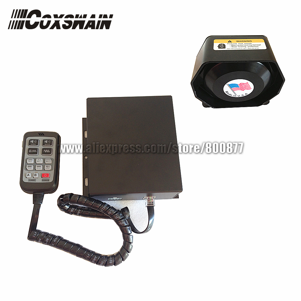 PA-615 200W Car Police Siren Alarm With 200W Speaker, 10 Sounds With Microphone, PA System Security Amplifier  (Siren + Speaker)