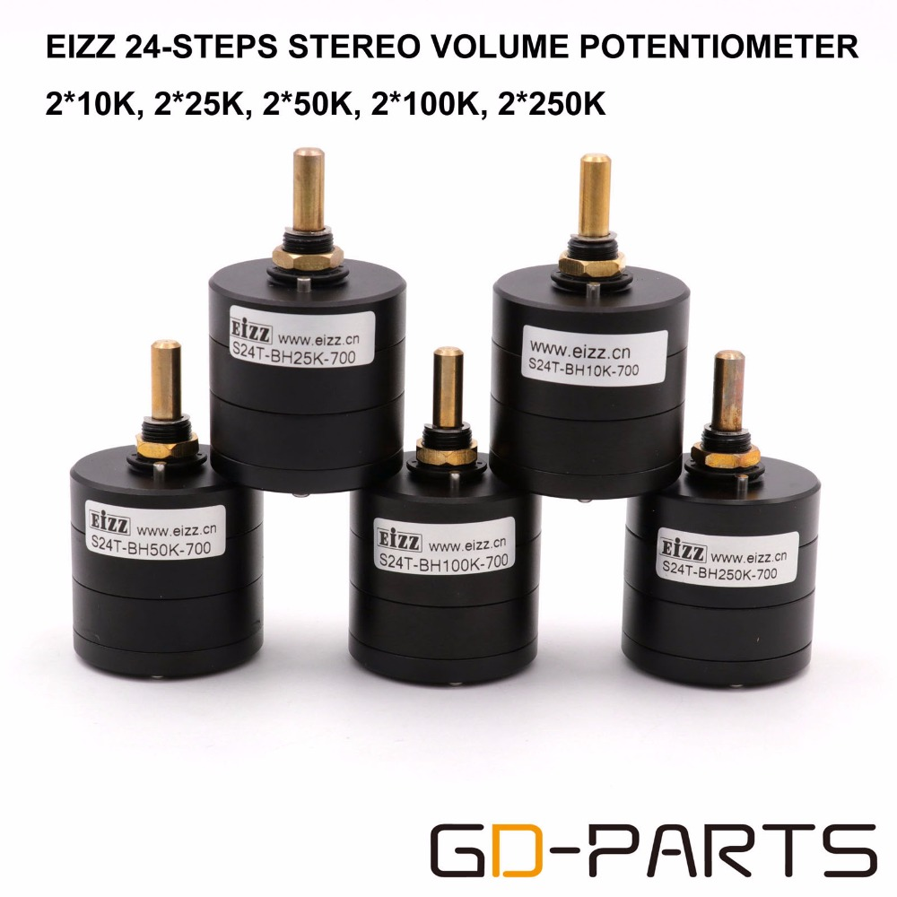 Здесь продается  GD-PARTS EIZZ 24 Step Stereo Attenuator Volume Potentiometer Balance Sound For Hifi Audio Vintage AMP Radio CD LOG 25K 50K 100K  Бытовая электроника