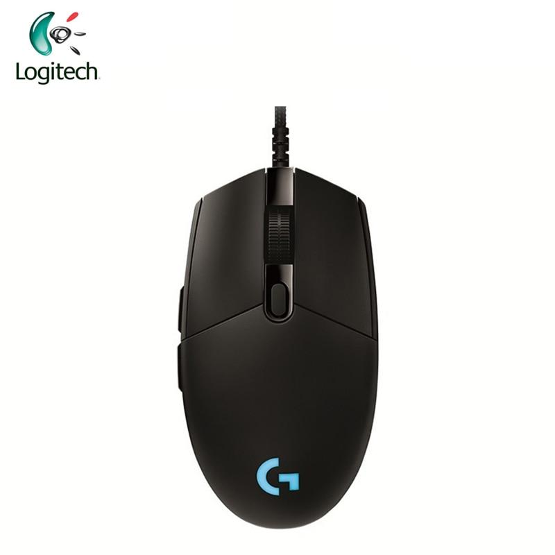 Logitech G Pro Gamer Gaming Souris 12000 dpi RGB Filaire Souris Officiel Véritable USB Gaming Souris pour Windows 10/ 8/7