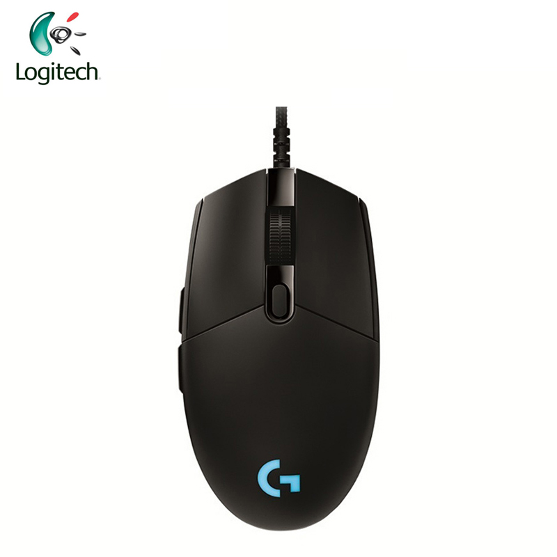 Logitech G Pro Gamer Gaming Mouse 12000dpi RGB Wired Mouse Official Genuine USB Gaming Mice for Windows 10/8/7 logitech m570 2 4g wireless gaming mouse optical trackball ergonomic mouse gamer for windows 10 8 7 mac os support official test