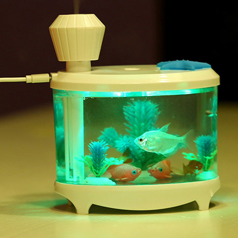 Humidifier Home Air Fish Tank Humidifier Usb Air Diffuser Ultrasonic Humidifier Led Office LED Mist Maker Timing Difusor