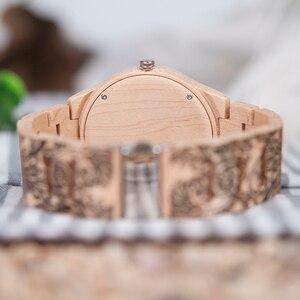 Image 5 - BOBO BIRD WO07 montres à Quartz en bois de pin pour hommes montre de tatouage dimpression UV dans une boîte en bois avec outil pour ajuster la taille livraison directe