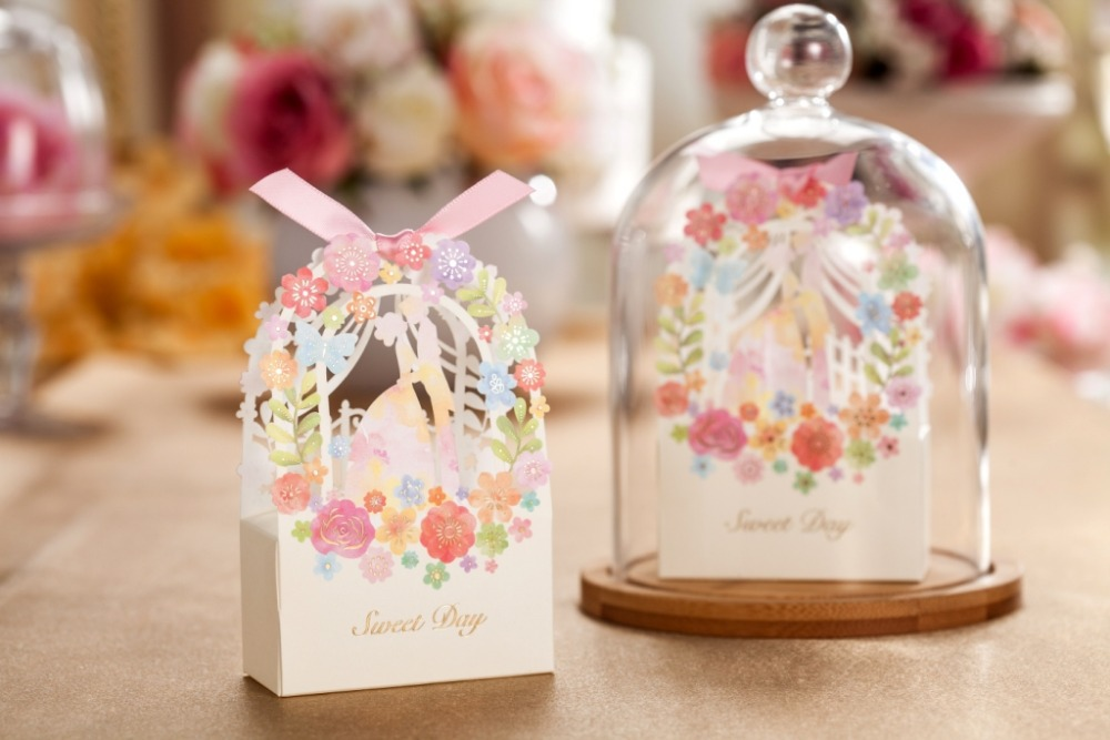 Laser Cut Wedding Gift Favor Box Cb5066 Chocolate Holder Match