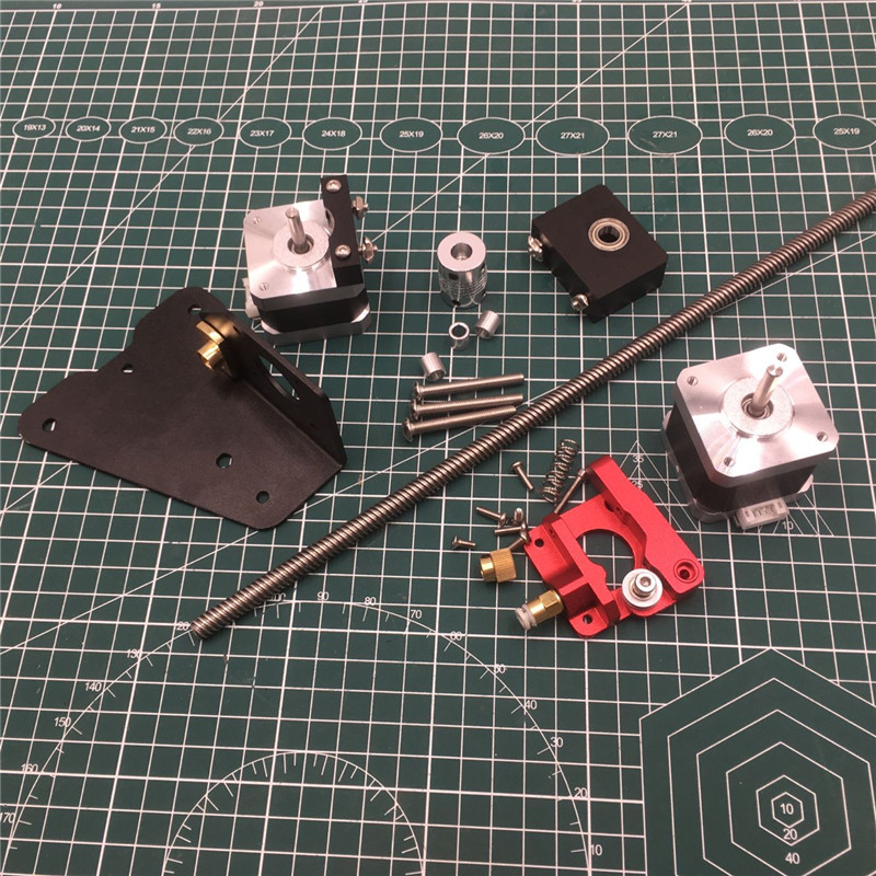 CR 10/Ender 3 3D printer upgrade Dual Extruder Mount dual z axis upgrade left hand extruder for CR 10 Ender 3 Pro upgrade kit|3D Printer Parts & Accessories| |  - title=