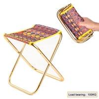 Acampamento ao ar livre fezes de pesca cadeira dobrável caminhadas piquenique praia assento de viagem com bolsa