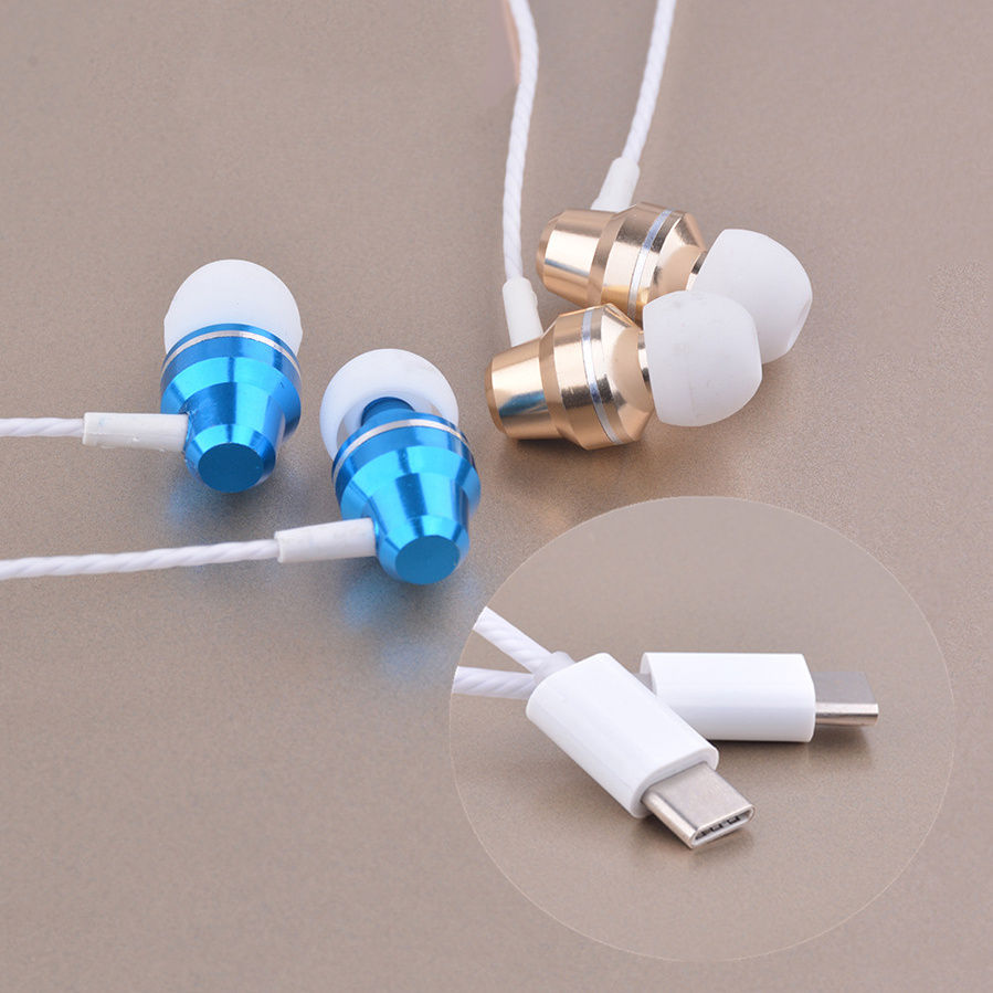USB USB-C Type C Earphone Hifi Wire Control Type-C AUX Jack Audio adapter For Letv 2 Pro max2 X520 X620 X820 pro3 Microphone Boy ...