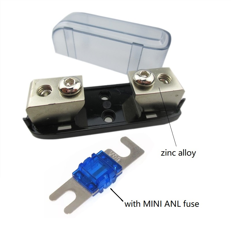 4Pcs ANL Fuse Holder Fork Type Car Power Supply No Protection Cover Base 12V US