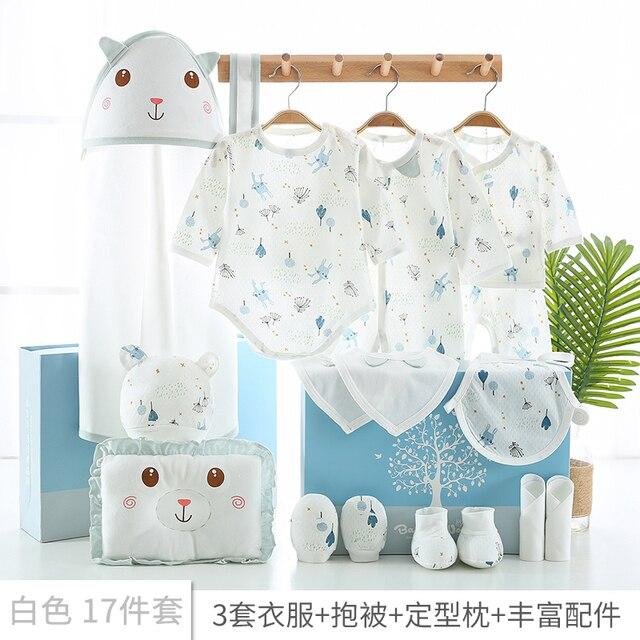 17 teile/satz Neugeborenen Baby Kleidung Set 0 3M Baby Kleidung Günstige Baby Junge/Mädchen Kleidung 100% Baumwolle hohe qualität Cartoon Kinder Tragen