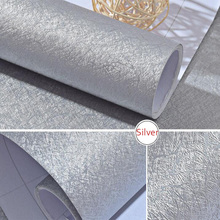 Silver Embossed Solid Colour Self adhesive Wallpaper PVC Wat
