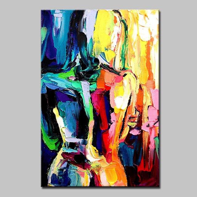 Peint à La Main Toile De Peinture Arts Affiche Abstraite Sexy Nu