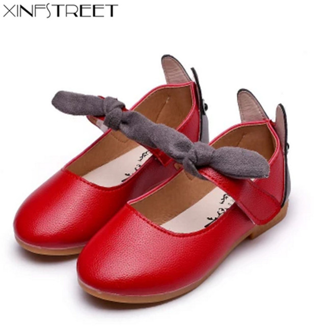 Toddler Girls Shoes Leather Brand Cute Bow Kids Shoes For Girls Princess  Soft Girls Flats Size 21-30