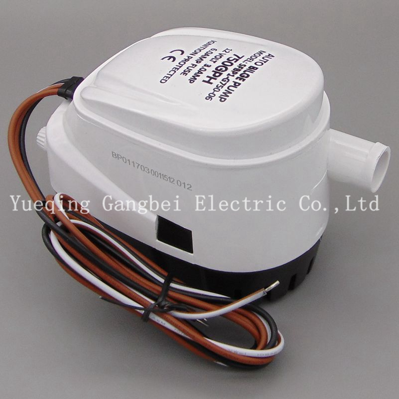 G750-06 750GPH 12v automatic boat bilge pumps for boats,rule automatic bilge pump rule eco switch ecologically sound automatic bilge switch