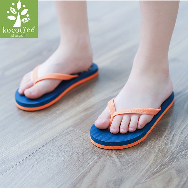 97d5c9ada Kocotree 2018 NEW Arrival Kids Flip Flops Summer Slippers Boys Girls Shoes  Baby Cartoon Sandals Children