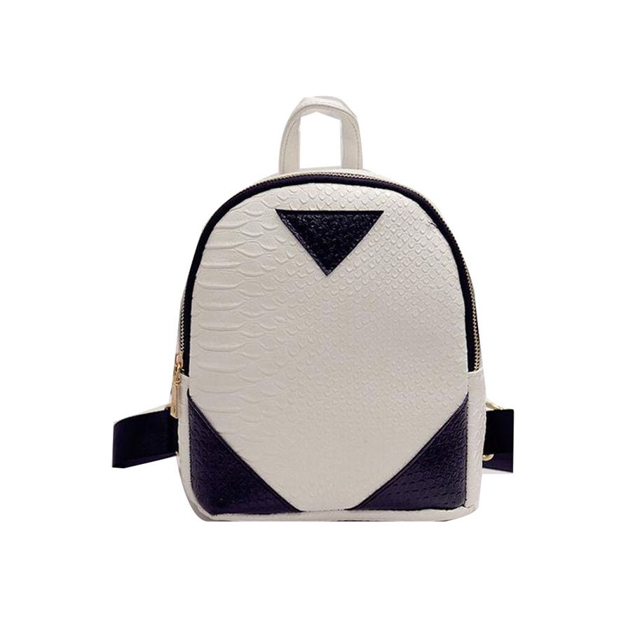 2017 Women Canvas Rucksack concise Serpentine Backpack School Book Shoulder Bag Backpack Women Mochila Feminina# 30