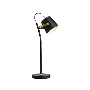 classic modern LED table lamp Nordic Iron lampshade black eye study desk office LED lamp