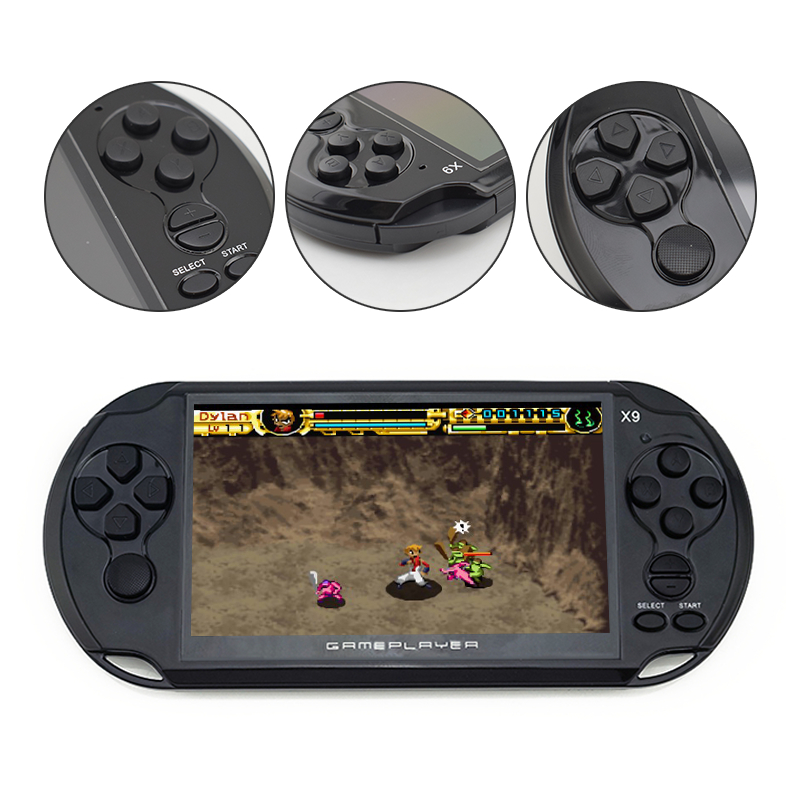 Nueva llegada 5,0 pulgadas de pantalla grande de juego portátil reproductor de TV poner con MP3/película de cámara de Video Multimedia consola de juego - 2