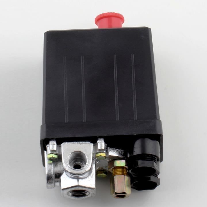 High Quality 1 Pcs Heavy Duty Air Compressor Pressure Switch Control Valve 90 PSI -120 PSI DropShipping heavy duty air compressor pressure control switch valve 90 120psi 12 bar 20a ac220v 4 port 12 5 x 8 x 5cm promotion price