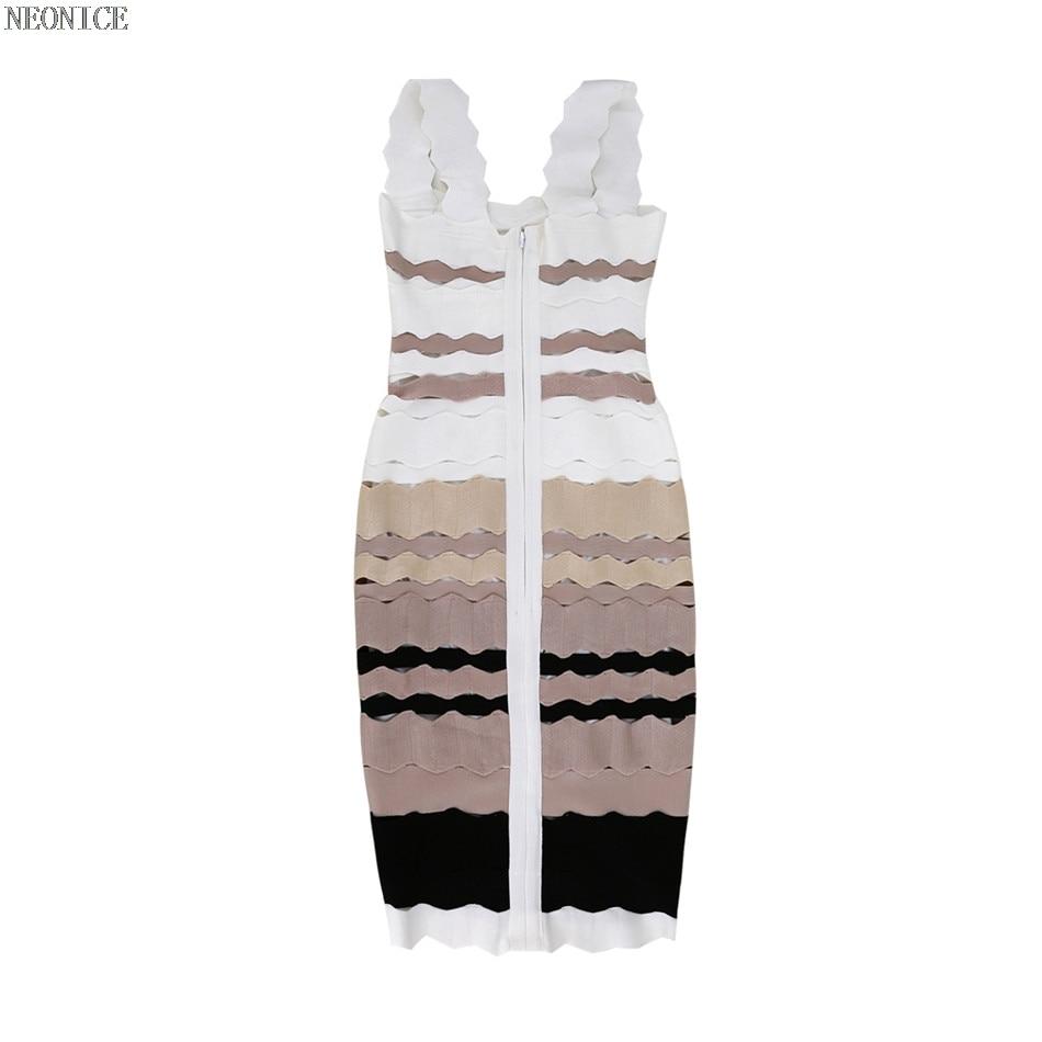 Serré Multicolore Élastique Socialite Sexy Gradient Bandage Hanche Fête Paquet Épissage D'anniversaire Loisirs 2018 Multi Robe De Discothèque Mode wH6SWvwtq