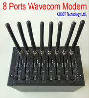 xjx Modem Pool USB 8 Ports Q2303A module for Wavecom AT Commands 900/1800MHz Support Imei Changing