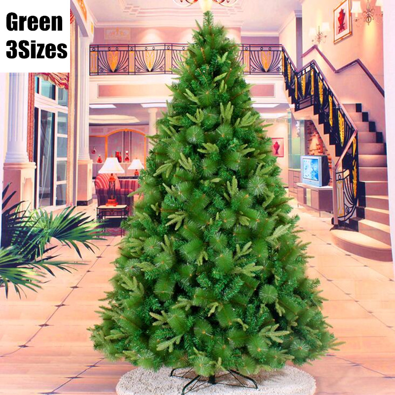 3 Sizes Santa Claus Tree 3 Styles Leaves Beautiful Hanging Ornament Decor PVC Christmas Tree Green