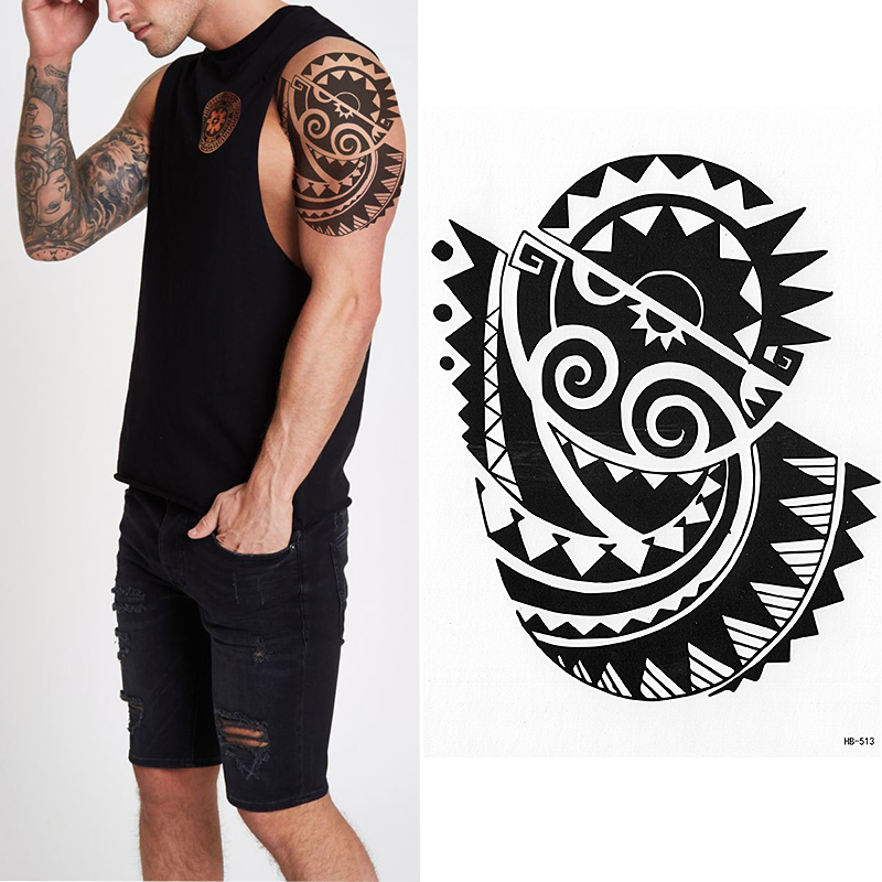 Tatouage Temporaire Au Soleil Maori Autocollant Au Soleil Pour Hommes Et Femmes Pour Hommes Et Femmes Tribaux Aliexpress